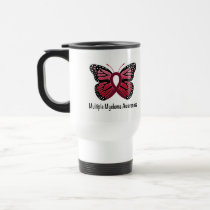 Multiple Myeloma: Butterfly Ribbon of Hope Travel Mug
