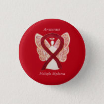 Multiple Myeloma Cancer Angel Awareness Ribbon Pin