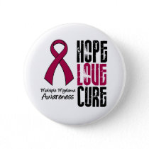 Multiple Myeloma Cancer Hope Love Cure Ribbon Button