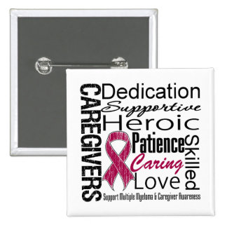 Multiple Myeloma Caregivers Collage 2 Inch Square Button