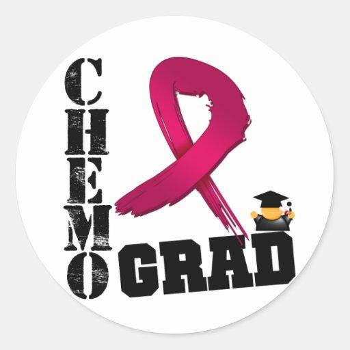 Multiple Myeloma Chemo Grad Classic Round Sticker