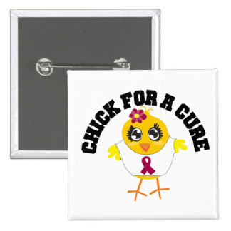 Multiple Myeloma Chick For A Cure Pinback Buttons