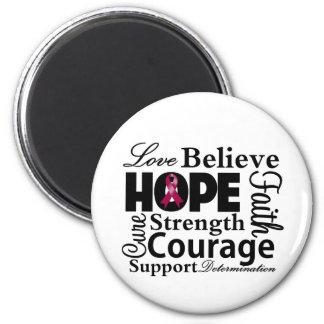 Multiple Myeloma Collage of Hope Fridge Magnet