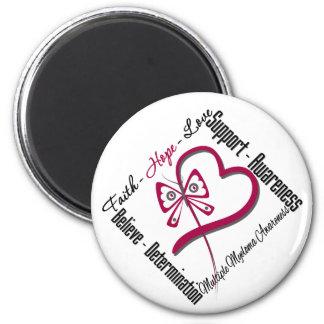 Multiple Myeloma Faith Hope Love Butterfly Magnet