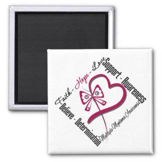 Multiple Myeloma Faith Hope Love Butterfly Refrigerator Magnet