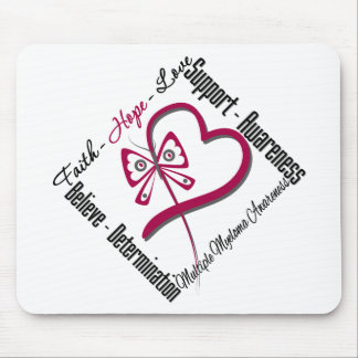 Multiple Myeloma Faith Hope Love Butterfly Mouse Pad
