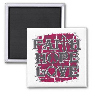 Multiple Myeloma Faith Hope Love Refrigerator Magnet