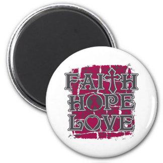 Multiple Myeloma Faith Hope Love Magnet