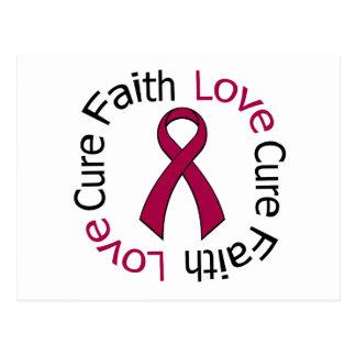 Multiple Myeloma Faith Love Cure Postcard
