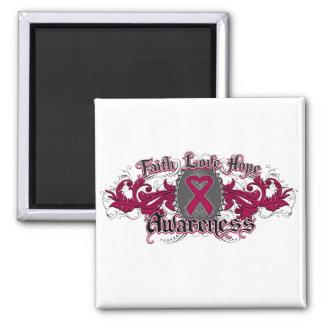 Multiple Myeloma Faith Love Hope Deco Heart Magnets