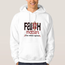 Multiple Myeloma Faith Matters Cross 1 Hoodie