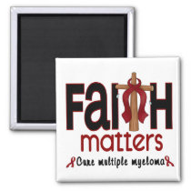 Multiple Myeloma Faith Matters Cross 1 Magnet