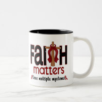 Multiple Myeloma Faith Matters Cross 1 Two-Tone Coffee Mug