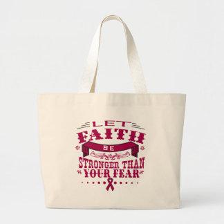 Multiple Myeloma Faith Stronger than Fear.png Jumbo Tote Bag