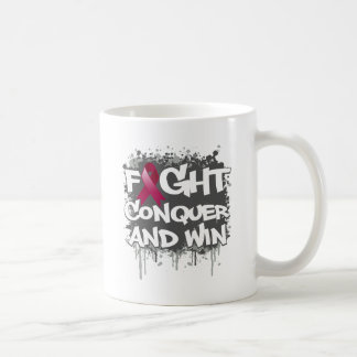 Multiple Myeloma Fight Conquer and Win Coffee Mugs