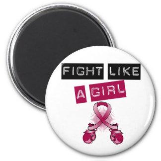Multiple Myeloma Fight Like A Girl Fridge Magnets