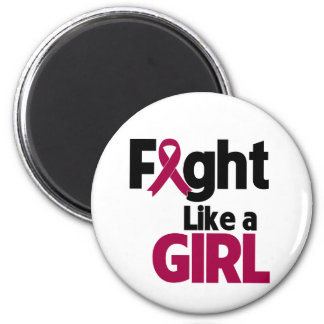 Multiple Myeloma Fight Like a Girl 2 Inch Round Magnet