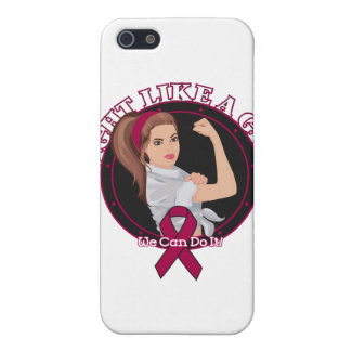Multiple Myeloma Fight Like A Girl Modern Rosie iPhone 5 Cases