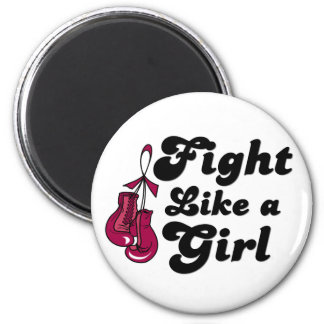 Multiple Myeloma Fight Like A Girl Motto Magnets