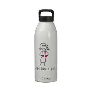 Multiple Myeloma Fight Like A Girl (Retro) Water Bottles