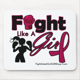 Multiple Myeloma Fight Like A Girl Silhouette Mouse Pad