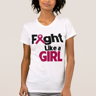 Multiple Myeloma Fight Like a Girl T-shirts