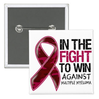 Multiple Myeloma - Fight To Win 2 Inch Square Button