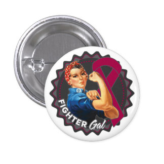 Multiple Myeloma Fighter Gal 1 Inch Round Button