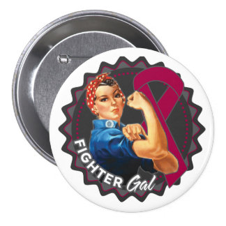 Multiple Myeloma Fighter Gal 3 Inch Round Button