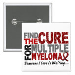 Multiple Myeloma FIND THE CURE 1 2 Inch Square Button