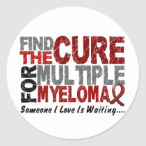 Multiple Myeloma FIND THE CURE 1 Classic Round Sticker