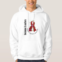 Multiple Myeloma Flower Ribbon 3 Hoodie