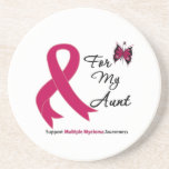 Multiple Myeloma For My Aunt Beverage Coasters