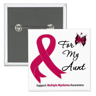 Multiple Myeloma For My Aunt Pinback Button