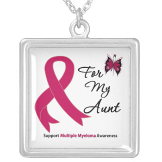Multiple Myeloma For My Aunt Square Pendant Necklace