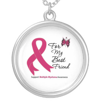 Multiple Myeloma For My Best Friend Round Pendant Necklace