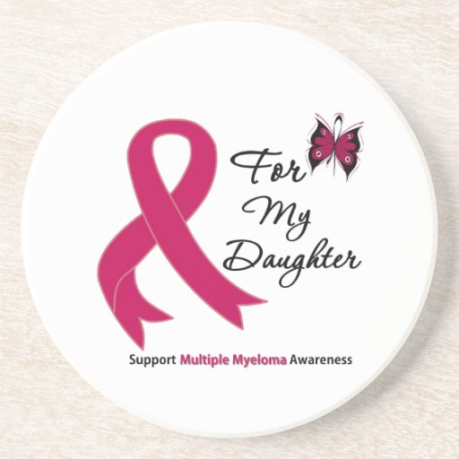Multiple Myeloma For My Daughter Beverage Coasters