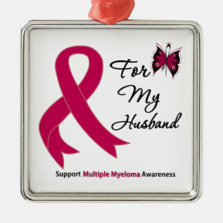 Multiple Myeloma For My Husband Metal Ornament