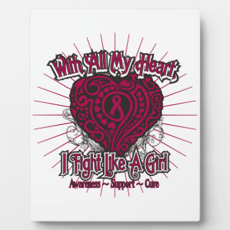 Multiple Myeloma Heart I Fight Like A Girl Display Plaques