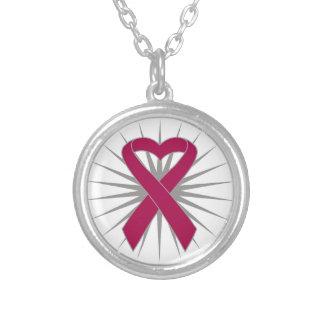 Multiple Myeloma Heart Ribbon Pendant