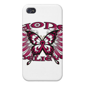 Multiple Myeloma Hope Believe Butterfly iPhone 4 Cover