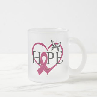 Multiple Myeloma Hope Butterfly Heart Décor 10 Oz Frosted Glass Coffee Mug