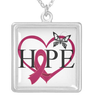 Multiple Myeloma Hope Butterfly Heart Décor Necklaces