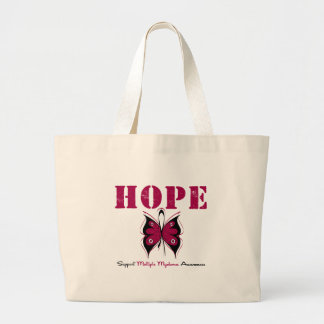 Multiple Myeloma Hope Butterfly Jumbo Tote Bag