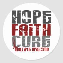 Multiple Myeloma HOPE FAITH CURE 1 Classic Round Sticker