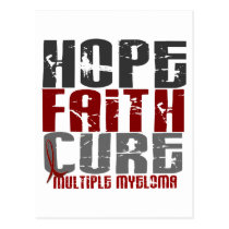 Multiple Myeloma HOPE FAITH CURE 1 Postcard