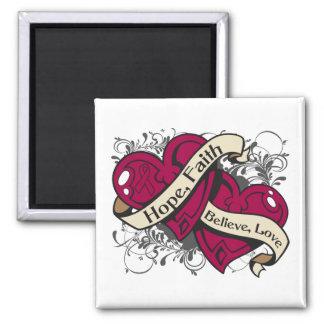 Multiple Myeloma Hope Faith Dual Hearts Magnets