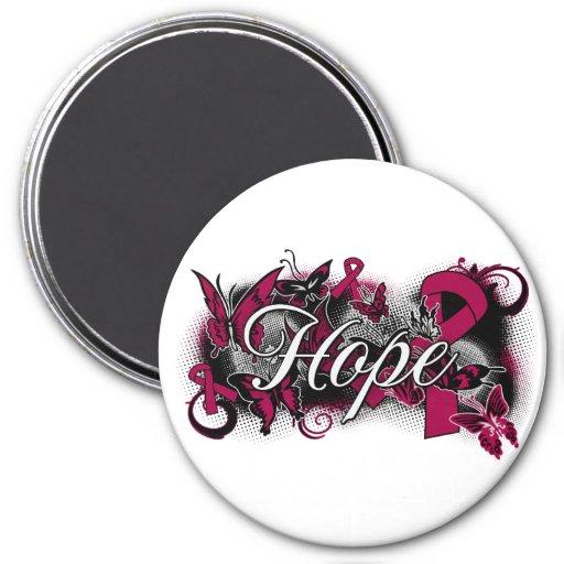 Multiple Myeloma Hope Garden Ribbon 3 Inch Round Magnet