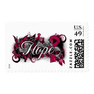 Multiple Myeloma Hope Garden Ribbon Postage