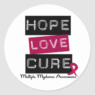 Multiple Myeloma Hope Love Cure Sticker